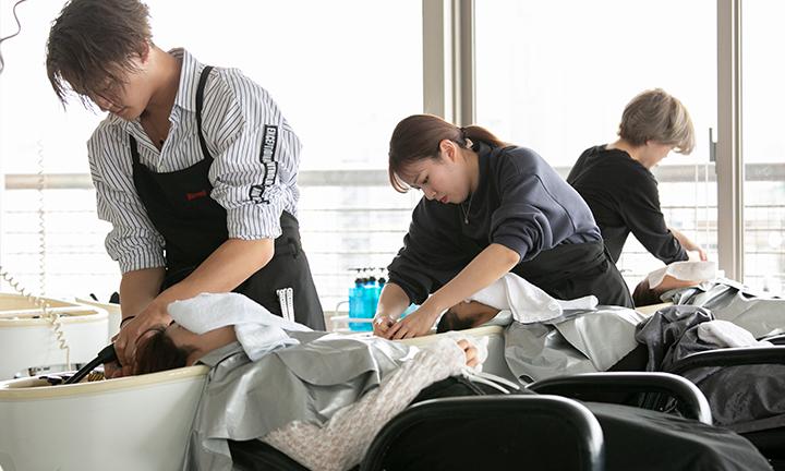 東京で美容を学ぶ ヘッドスパ