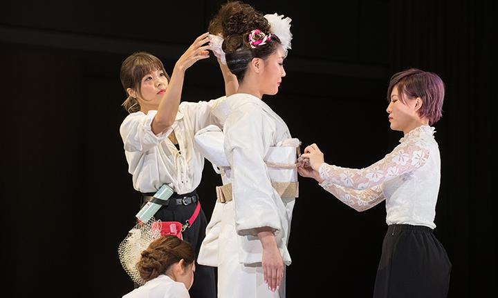 東京の美容学校で和装・着付け師を目指す