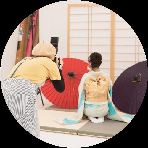 和装・着付け師の活躍の場 写真館